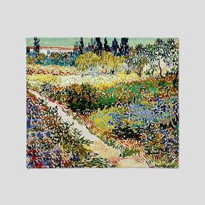 Van Gogh Garden At Arles Throw Blanket