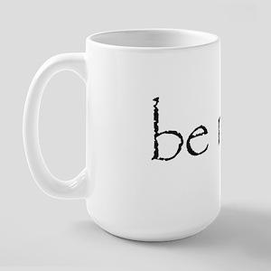 Be Nice Sticker Large Mug