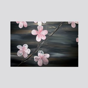Cherry Blossom Night Shadow Rectangle Magnet