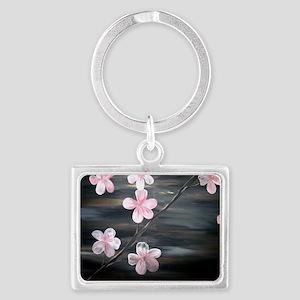 Cherry Blossom Night Shadow Landscape Keychain