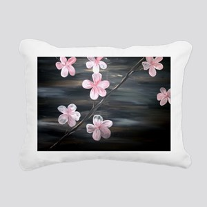 Cherry Blossom Night Sha Rectangular Canvas Pillow