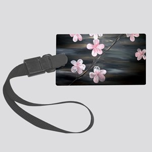 Cherry Blossom Night Shadow Large Luggage Tag