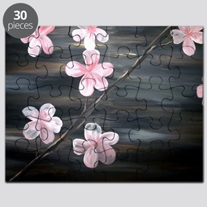 Cherry Blossom Night Shadow Puzzle