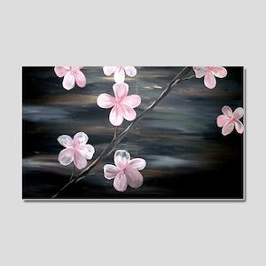 Cherry Blossom Night Shadow Car Magnet 20 x 12