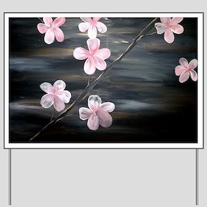 Cherry Blossom Night Shadow Yard Sign