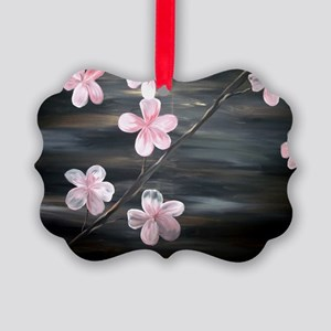 Cherry Blossom Night Shadow Picture Ornament
