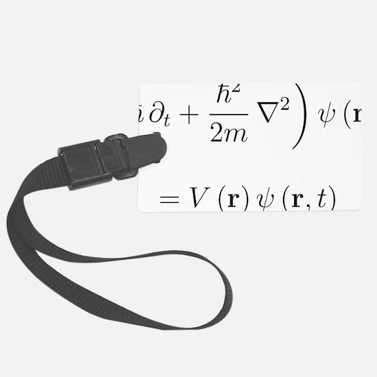 Schrodinger wave equation, nabla Luggage Tag