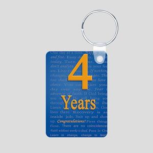 4 Years Recovery Slogan Bi Aluminum Photo Keychain