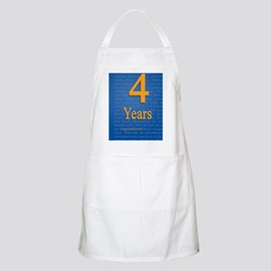 4 Years Recovery Slogan Birthday Card Apron