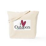 i love outdoors Tote Bag