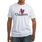i love outdoors Fitted T-Shirt