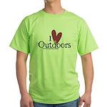 i love outdoors Green T-Shirt