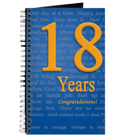 18 years recovery slogan birthday card journal by admincp7313186 bookmarktalkfo Choice Image