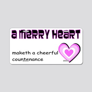 A merry heart Aluminum License Plate