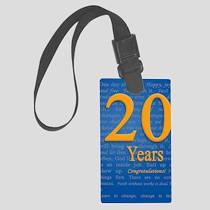 20 Years Recovery Slogan Birthda Large Luggage Tag