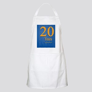 20 Years Recovery Slogan Birthday Card Apron