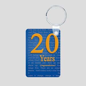 20 Years Recovery Slogan B Aluminum Photo Keychain