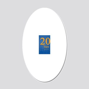 20 Years Recovery Slogan Bir 20x12 Oval Wall Decal