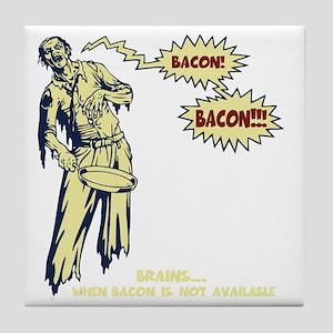 zombie-bacon-DKT Tile Coaster