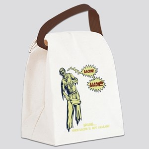 zombie-bacon-DKT Canvas Lunch Bag