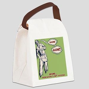 zombie-bacon-PLLO Canvas Lunch Bag