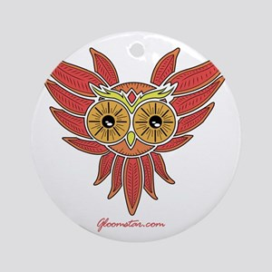 Geometric Owl Round Ornament