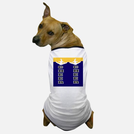 Cheer Yellow and blue Dog T-Shirt
