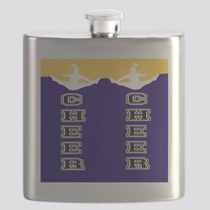 Cheer Yellow and blue Flask