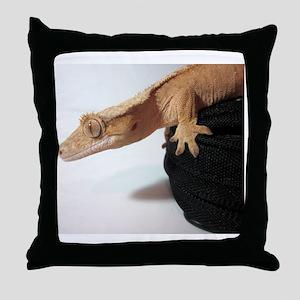 Crested Gecko Throw Pillow