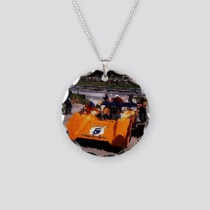 Orange 5:  Can-Am MacLaren Necklace Circle Charm