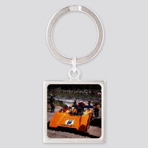 Orange 5:  Can-Am MacLaren Square Keychain