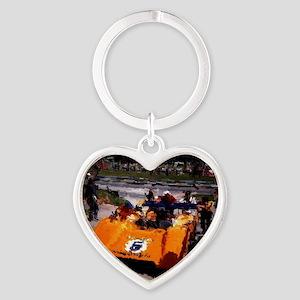 Orange 5:  Can-Am MacLaren Heart Keychain