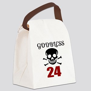 Godbless 24 Birthday Designs Canvas Lunch Bag