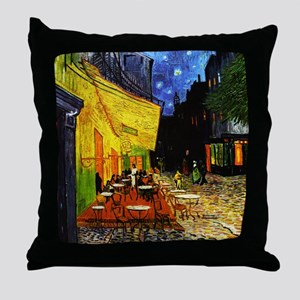 Van Gogh Cafe Terrace At Night Throw Pillow