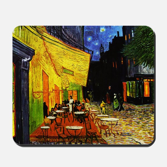Van Gogh Cafe Terrace At Night Mousepad