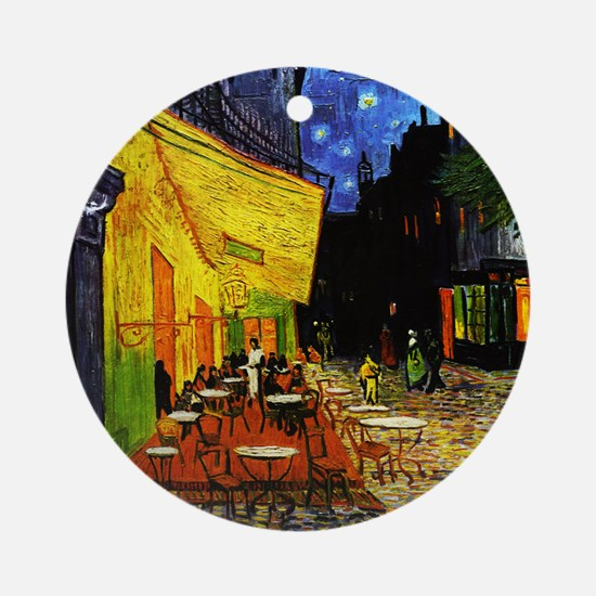 Van Gogh Cafe Terrace At Night Round Ornament