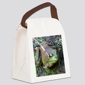 Frog - Close UP Canvas Lunch Bag