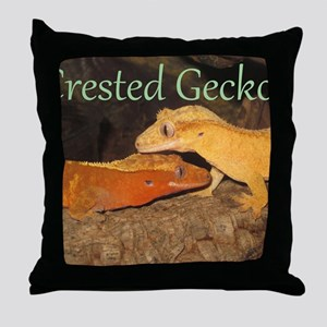Crested Geckos Throw Pillow