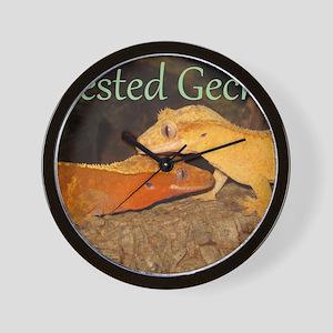 Crested Geckos Wall Clock