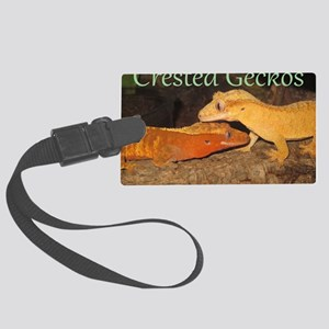 Crested Geckos Large Luggage Tag