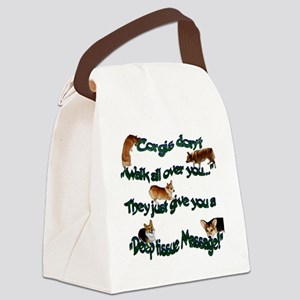 Corgi Massage Canvas Lunch Bag