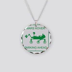 Mars Rover Parking Necklace Circle Charm