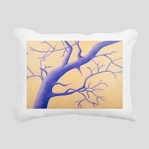 Cedar Waxwing Rectangular Canvas Pillow
