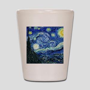 Van Gogh Starry Night Shot Glass