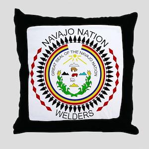 Navajo Nation Welders Throw Pillow
