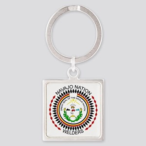 Navajo Nation Welders Square Keychain