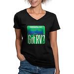 Got RVs Women's V-Neck Dark T-Shirt
