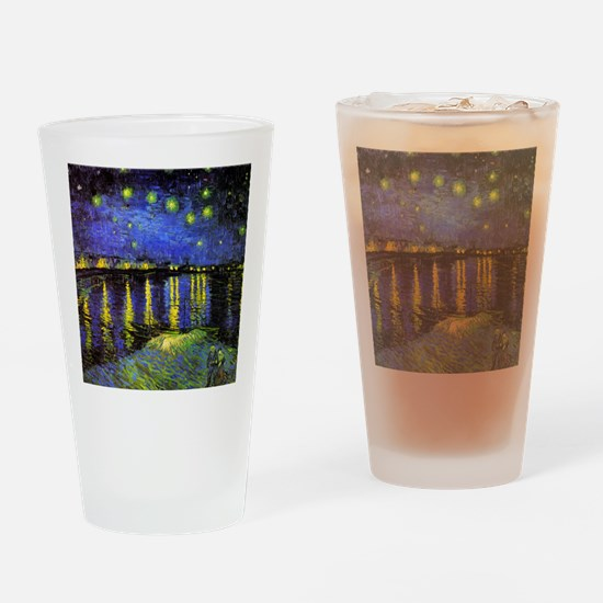 Van Gogh Starry Night Over The Rhon Drinking Glass