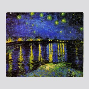 Van Gogh Starry Night Over The Rhone Throw Blanket