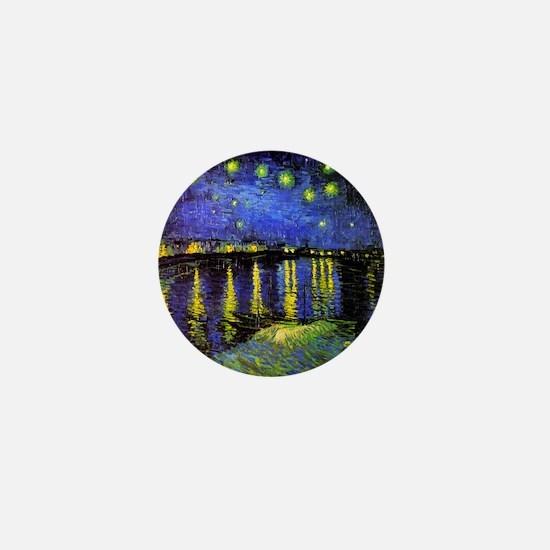 Van Gogh Starry Night Over The Rhone Mini Button